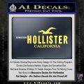 Hollister Decal Sticker California ST1 Yellow Vinyl 120x120
