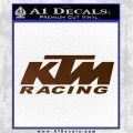 KTM Racing Decal Sticker D2 Brown Vinyl 120x120