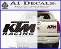 KTM Racing Decal Sticker D2 Carbon Fiber Black 120x97