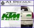 KTM Racing Decal Sticker D2 Green Vinyl 120x97