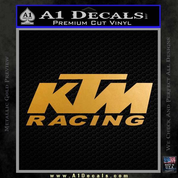 KTM Racing Decal Sticker D2 Metallic Gold Vinyl