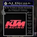 KTM Racing Decal Sticker D2 Pink Vinyl Emblem 120x120