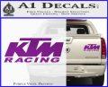 KTM Racing Decal Sticker D2 Purple Vinyl 120x97