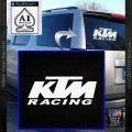 KTM Racing Decal Sticker D2 White Vinyl Emblem 120x120