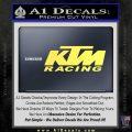 KTM Racing Decal Sticker D2 Yellow Vinyl 120x120