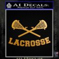 Lacrosse Decal Sticker D2 Metallic Gold Vinyl 120x120