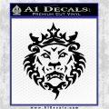 Lebron James Lion Logo Decal Sticker Black Vinyl Logo Emblem 120x120