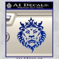 Lebron James Lion Logo Decal Sticker Blue Vinyl 120x120