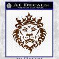 Lebron James Lion Logo Decal Sticker Brown Vinyl 120x120