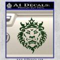 Lebron James Lion Logo Decal Sticker Dark Green Vinyl 120x120