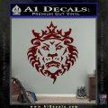 Lebron James Lion Logo Decal Sticker Dark Red Vinyl 120x120