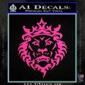 Lebron James Lion Logo Decal Sticker Hot Pink Vinyl 120x120