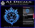 Lebron James Lion Logo Decal Sticker Light Blue Vinyl 120x97