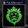 Lebron James Lion Logo Decal Sticker Lime Green Vinyl 120x120
