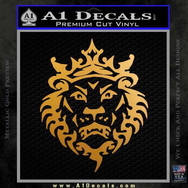 Lebron James Lion Logo Decal Sticker Metallic Gold Vinyl