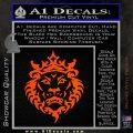 Lebron James Lion Logo Decal Sticker Orange Vinyl Emblem 120x120