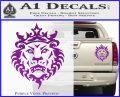Lebron James Lion Logo Decal Sticker Purple Vinyl 120x97
