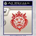 Lebron James Lion Logo Decal Sticker Red Vinyl 120x120