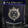 Lebron James Lion Logo Decal Sticker Silver Vinyl 120x120