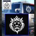Lebron James Lion Logo Decal Sticker White Vinyl Emblem 120x120