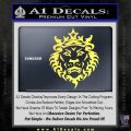 Lebron James Lion Logo Decal Sticker Yellow Vinyl 120x120