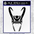 Loki Helmet Decal Sticker The Superhero DA Black Vinyl Logo Emblem 120x120