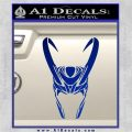 Loki Helmet Decal Sticker The Superhero DA Blue Vinyl 120x120