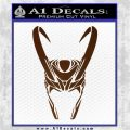 Loki Helmet Decal Sticker The Superhero DA Brown Vinyl 120x120
