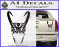 Loki Helmet Decal Sticker The Superhero DA Carbon Fiber Black 120x97