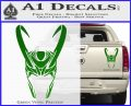 Loki Helmet Decal Sticker The Superhero DA Green Vinyl 120x97