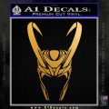 Loki Helmet Decal Sticker The Superhero DA Metallic Gold Vinyl 120x120