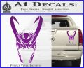 Loki Helmet Decal Sticker The Superhero DA Purple Vinyl 120x97