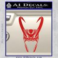 Loki Helmet Decal Sticker The Superhero DA Red Vinyl 120x120