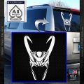 Loki Helmet Decal Sticker The Superhero DA White Vinyl Emblem 120x120