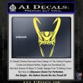 Loki Helmet Decal Sticker The Superhero DA Yellow Vinyl 120x120