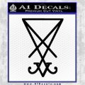 Lucifer Sigil Decal Sticker Black Vinyl Logo Emblem 120x120