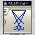 Lucifer Sigil Decal Sticker Blue Vinyl 120x120