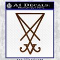 Lucifer Sigil Decal Sticker Brown Vinyl 120x120