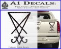 Lucifer Sigil Decal Sticker Carbon Fiber Black 120x97