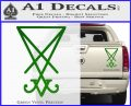 Lucifer Sigil Decal Sticker Green Vinyl 120x97