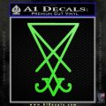 Lucifer Sigil Decal Sticker Lime Green Vinyl 120x120