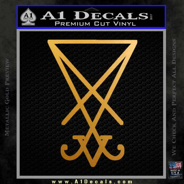 Lucifer Sigil Decal Sticker Metallic Gold Vinyl