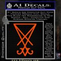 Lucifer Sigil Decal Sticker Orange Vinyl Emblem 120x120