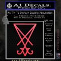 Lucifer Sigil Decal Sticker Pink Vinyl Emblem 120x120