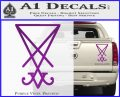 Lucifer Sigil Decal Sticker Purple Vinyl 120x97