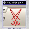 Lucifer Sigil Decal Sticker Red Vinyl 120x120