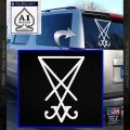 Lucifer Sigil Decal Sticker White Vinyl Emblem 120x120