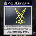 Lucifer Sigil Decal Sticker Yellow Vinyl 120x120