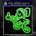 Marvin The Martian Gun D2 Decal Sticker Lime Green Vinyl 120x120
