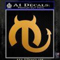 Mopar Devil V2 Decal Sticker Metallic Gold Vinyl 120x120